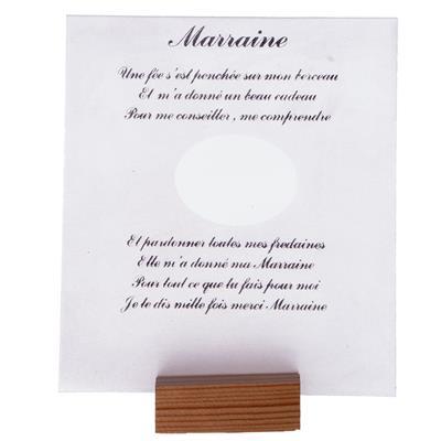 Poeme Sur Feuille En Verre Photo Marraine Labis Import